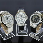 TOP New Womens Crystal Analog Quartz Ladies Wrist Leather Band Watch S11T