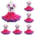 Hot Pink Purple Pettiskirt Doc McStuffins 1st-6th Birthday Tee Shirt Party Dress
