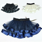 A147 Women girl voile Collage mesh tutu skirt layered Dress skirt wrap skirts