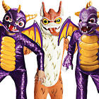 Skylanders Dragon + Mask Boys Fancy Dress Halloween Childrens Game Kids Costumes