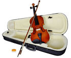 New 4 4 Full Size Natural Acoustic Wood Color Violin Fiddle with Case Bow Rosin