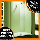 Walk In Shower with 8mm Glass Screen Wet Room Panel Enclosure Bathroom Screen
