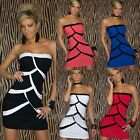 Women Strapless Off Shoulder Sexy Dress Geometric Tank Style Clubwear Dress