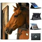 Horse In A Stable Folio Wallet Leather Case For iPad 2, 3 & 4
