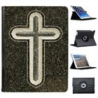 Beautiful Cross Of Christ Folio Wallet Leather Case For iPad 2, 3 & 4