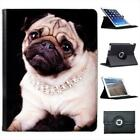 Princess Pug Dog Wearing Diamond Necklace Folio Leather Case For iPad 2, 3 & 4