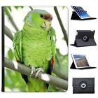 Green Parrot Folio Wallet Leather Case For iPad 2, 3 & 4