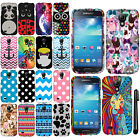 For Samsung Galaxy S4 mini I9190 Design PATTERN HARD Case Phone Cover + Pen