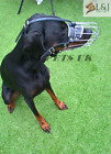 New Strong  Metal Wire Basket Dog Muzzle for Doberman , Malinois and Other Dogs