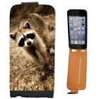 Raccoon Racoon Leather Flip Case for Apple iPhone 5s