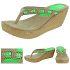 Sbicca Women's Coraneon Wedge Thong Sandals Shoes