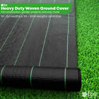 Elixir Gardens Heavy Duty Landscape Fabric 1m, 2m, 3m, 4m, 5m Widths with Pegs