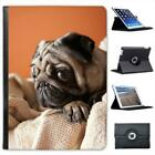 Pug Sitting In Towels Folio Wallet Leather Case For iPad Air & Air 2