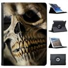 Creepy Close Up Of Skull With Yellow Teeth Leather Case For iPad Air & Air 2