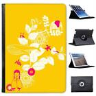 Animal Garden Yellow Folio Wallet Leather Case For iPad Air