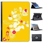 Animal Garden Yellow Folio Wallet Leather Case For iPad Air & Air 2