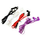Flat Cable Earphone In-Ear Headphone Stereo Earbud Microphone For Mobile Phone