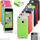 Hybrid Rugged Impact Rubber Gel Matte Hard Case Cover for iPhone 5C w / Guard