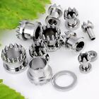 Pick Gauge Punk Silvery Taper Surgical Steel Ear Tunnel Plugs Expander Stretcher