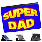Super Dad Fathers Day Birthday Gift Folio Leather Case For iPad Mini & Retina