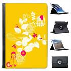 Animal Garden Yellow Folio Leather Case For iPad Mini & Retina