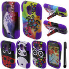 For Samsung Galaxy Light T399 KICKSTAND HYBRID Rubber HARD Case Cover + Pen