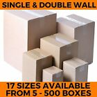 STRONG NEW CARDBOARD BOXES SINGLE & DOUBLE WALL POSTAL PACKING MAILING CARTONS