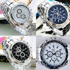 New Fashion Stainless Steel Luxury Sport Analog Quartz Mens Wrist Watch SH