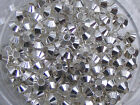 100 Beautiful Silver or Gold Plated Bicone Spacer Beads - 4mm (SP034)