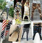 Fashion Womens Casual Elastic Waist Hip-hop Harem Pants Trousers 14 Colors HUK