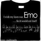 I Wish My Lawn Was Emo & Cut It Self Shirt, funny shirts, humor, emo, t shirts