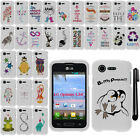 For LG Optimus Zone 2 Fuel L34C Art Design PATTERN HARD Case Cover Phone + Pen