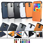 SAVFY Samsung Galaxy S5 Dual Window Flip View Case Cover Slim Armor Dual Layer