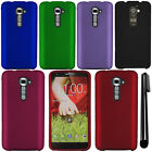 For LG G2 Verizon VS980 Rubberized COLOR HARD Protector Case Cover Phone + Pen