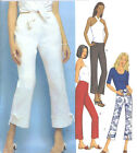 Misses Straight Pants Sewing Pattern Fitted Contour Waist Back Zipper Bands 3394
