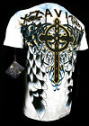 XZAVIER COLLECTION CROSS MY HEART T SHIRT WINGED CROSS  URBAN  WARRIOR BATTLE