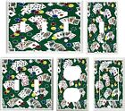 POKER HANDS ON GREEN  DESIGN 3 SPORTS DECOR  LIGHT SWITCH COVER PLATE