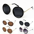 Fashion Vintage Retro Style Round Glasses Steampunk Sunglasses Metal Frame