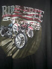 NEW RIDE FREE MOTORCYCLE CHOPPER T SHIRT    3XL BLACK