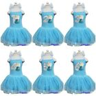 Girls Elsa Princess Number 1-6 Birthday Blue Ribbon Party Dress Costume