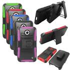 Holster Clip For Nokia Lumia 630 Hybrid Case Silicone edge Hard Cover Stand