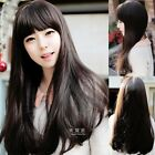 Cool New Womens Long Weave Hair Wavy Curly Full Wigs Cosplay Party 4 Colors Wig