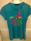 BRAND NEW WITH TAGS LADIES PLAYBOY TSHIRT IN TURQUOISE