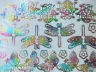 PEEL OFFS Butterflies Dragonflies Ladybug Stickers Two Sheets Gold Or Silver