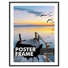8 1/2 x 11 - Custom Poster Picture Frame - Select Profile, Color, Lens, Backing