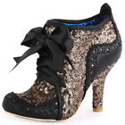 Irregular Choice Abigail's Third Party Womens Black Gold Heels Shoes All Sizes