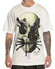 Sullen Clothing Chase Mens T Shirt White Skull Tattoo Goth Tee