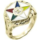 Gold Overlay Ladies Order of Eastern Star Ring- Sizes 5-11