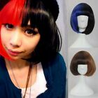 Hot Fashion Colors Mixed Short Hair Straight Full Wigs/Wig Anime Cosplay Costume