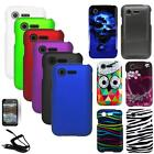 Phone Case For Tracfone LG Optimus Fuel Hard Cover Car Charger Screen Protector